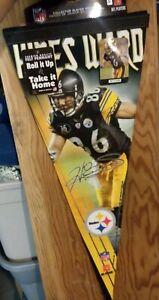 Hines Ward Limited Felt Pennant 12x30 Premium /2009 Steelers