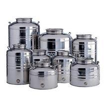 fusto sansone 50 lt con predisposizione in acciaio inox contenitore per olio