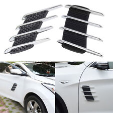 Chrome Silver Exterior Fender Side Vent Air Flow Intake Grille Decorative hg