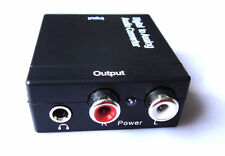 UK Digital Optical Coaxial Toslink to Analog  Audio Converter Adapter RCA L/R