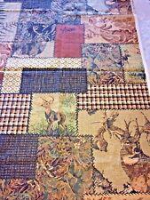 "Camouflage Deer Hunter Fabric 1 Yd x 45"" W Dick Idol Green & Brown Buck 2003"