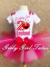 Elmo Girls Personalized Birthday Tutu Outfit Party Dress Custom Set