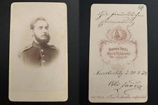 Krull, Neu-Strelitz, Lieutenant Otto Zander Vintage albumen carte de visite, CDV