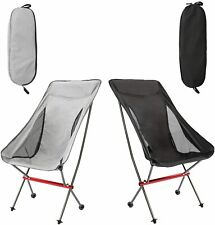 Folding Camping High Back Backpacking Chair Ultralight Compact Portable 330lbs