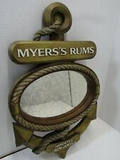 Old Myers'S Rum Nautical Mirror Bar Sign Barware Man Cave