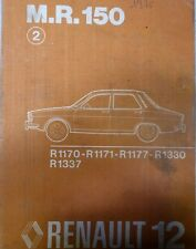 RENAULT R 12 R12 MANUEL MECANIQUE CARROSSERIE MR 150 PIECES REFERENCE DESSIN 75