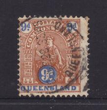 Qld: 1903 9d Deep Brown/Blue Sg 266 Good Used