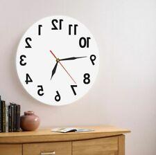 Reverse Wall Clocks Backwards Time Contemporary Modern Designs Watch Home Decor