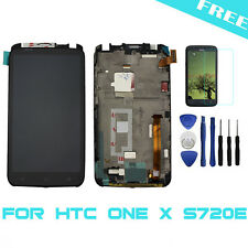 For HTC ONE X S720e LCD Display Touch Screen Digitizer +Frame +Tools+Film Black