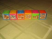 6 Vintage 1972 Mattel Baby Pop Up Blocks Infant Toddler Pre-school