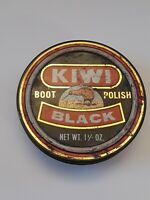 Vintage 39¢ KIWI Black Boot Polish Collectible Tin Pre 1971