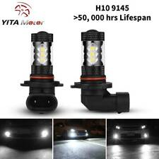 YITAMOTOR 6000K Super White H10 9145 80W LED Fog Driving Light DRL Bulbs 2pcs