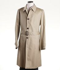 NWT $3975 BRIONI 'Storm System' Belted Trench Coat w/ Wool Lining XXL Jacket
