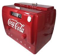 Old-Tyme Coca Cola Cooler Radio Cassette In Box Vtg 1988 OTR 1949 Works Preowned