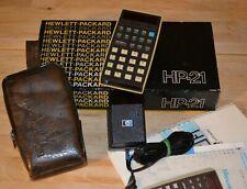 Calcolatrice Hewlett-Packard HP 21 calculator boxed vintage works!!