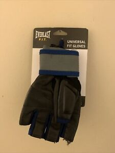 Everlast Men's Universal Fit Gloves F.I.T.  - Medium /Large BLACK / BLUE NEW