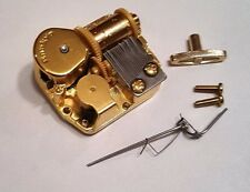 """Sankyo 18 Note Music Box Movement With Reuge Wire Stopper-""""Harbour Lights"""""""