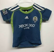 Adidas Seattle Sounders MLS FC Soccer Jersey, Sz Toddler, Baby, 2T, Authentic