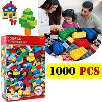 Children DIY Puzzle 1000 Pieces Kids Building Blocks Bricks Construction Toy New