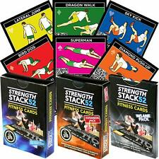 Strength STACK 52  TRI Exercise Workout Card Game Home Fitness Training Program