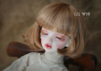 QQ-35C BJD Doll Synthetic Mohair Wig Gold Brown Color 1/12;1/6;1/8;1/4;1/3 sizes