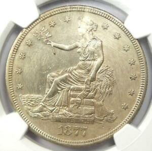 1877-S Trade Silver Dollar T$1 - Certified NGC Uncirculated Details (MS UNC)