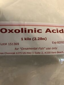 Priority Shipping  Oxolinic Acid Ornamental Fish Use 100g Powder Koi Medication
