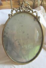Vintage Convex Glass Ornate Metal Wall Hanging Picture Frame - Large