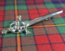 "NEW SCOTTISH HIGHLAND PREMIUM STEEL 4"" CELTIC KNOT AND LOOP KILT / BROOCH PIN"