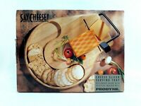 Prodyne Cheese Slicer Serving Tray Beechwood Round Countour 912B