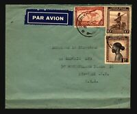 Belgian Congo 1940s Airmail Cover to USA / Bottom Fold - Z14355