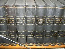 Thieme-Becker - Allgemeines Lexikon der bildenden Künstler in 37 Bänden