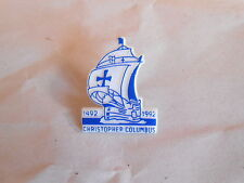 Vintage Christopher Columbus 50 Years 1492-1992 Santa Maria Ship Souvenir Pin