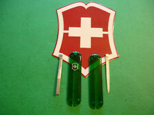 BRAND NEW GENUINE VICTORINOX 58mm EMERALD SCALES W/TOOTHPICK -TWEEZER FREE SHIP