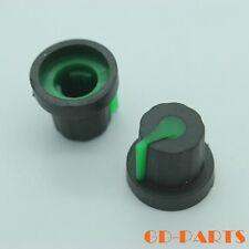 10PCS 16*14mm Black+Green Rubber Rotary Knob FR DJ MIXER Potentiometer Replace