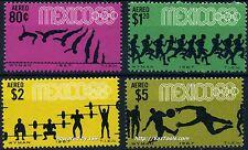 MEXIQUE SERIE SUR LE SPORT 1967 NEUF ** SANS CHARNIERE