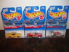 Hot Wheels--Lot Of 3--'70 Roadrunner #969--Jaguar #970--Hot Seat #999---Lot #27