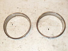 Jeep Wrangler TJ Chrome Headlight Bezel Trim Beauty Ring 97-06 Light Pair