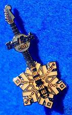 BELFAST IRELAND ERROR COLOUR GOLD XMAS SNOWFLAKE GUITAR Hard Rock Cafe PIN LE