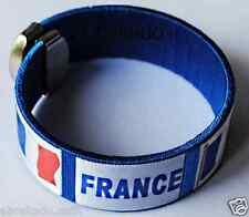 1 BRACELET FRANCE SUPPORTER MONDIAL BRESIL FOOT 2014