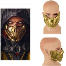 Halloween Mortal Kombat 11 Cosplay Gold Masks Scorpion Half Face Cool Mask Cos
