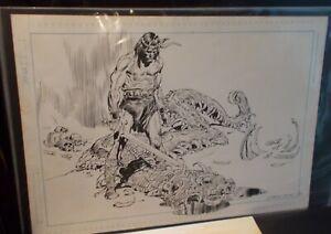 "Gerry Talaoc Signed Vintage Conan Pin Up Original Art Page 15-1/2"" x 10-3/4"" ink"