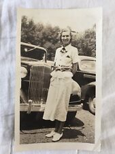 Pretty GIRL with old car vintage photo Gatsby Girl