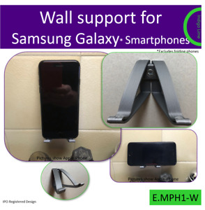 Wall mount for Samsung Galaxy Smartphones. Made in the UK by us