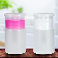 Plastic Nail Art Salon Pump Dispenser Polish Remover Empty Bottle Container Kit
