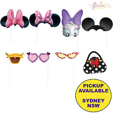 MINNIE MOUSE BIRTHDAY PARTY SUPPLIES 8 PHOTO BOOTH PROP KIT FOR SCENE SETTER