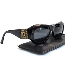 Authentic Gianni Versace Black Sunglasses Mod 395 Col 852 BK Made Italy in Case