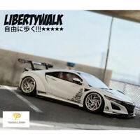 Timothy&Pierre 1:64 Scale Honda LBWK Honda Acura NSX White Car Model Collection