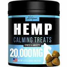 Hemp Calming Treats for Dogs - Made in Usa - 180 Soft Dog Black