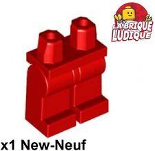 Lego - 1x figurine minifigurine jambe Hips and Legs rouge/red 970c00 NEUF